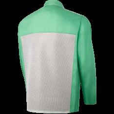 """STEINER 1030-L Welding Jacket,L,30/"""",Green"""